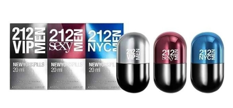 Набор C.H 212 VIP Men Pills, 3 x 20 ml