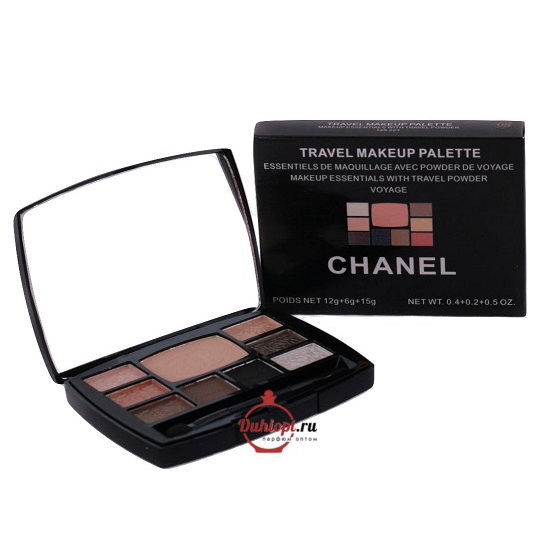 Тени с пудрой Chanel Travel Makeup Palette,33 g