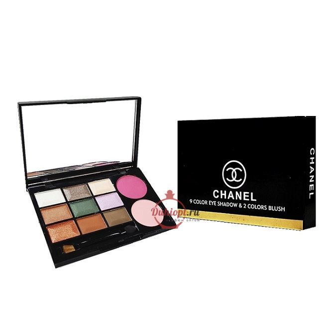 Chanel 9 Color Eye Shadow & 2 Color Blush,18g+10g