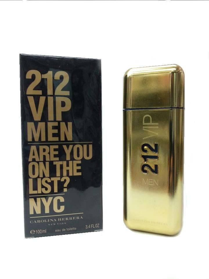 Туалетная вода Carolina Herrera 212 VIP (GOLD) для мужчин 100 мл.